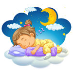 śpiace dziecko, obrazek